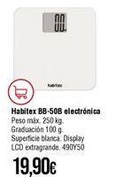 Oferta de Báscula de baño Habitex por 19,9€