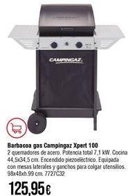 Oferta de Barbacoa a gas campingaz por 125,95€