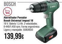 Oferta de Atornillador Bosch por 139,99€
