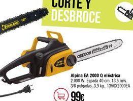Oferta de Motosierra eléctrica Oregón por 99€