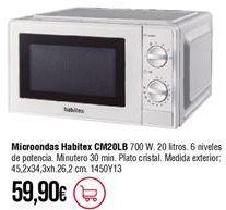 Oferta de Microondas Habitex por 59,9€