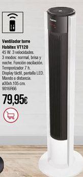 Oferta de Ventilador torre Habitex por 79,95€