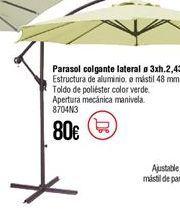 Oferta de Parasol por 80€