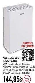 Oferta de Purificador de aire Habitex por 144,95€