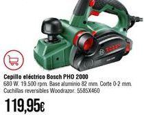 Oferta de Cepillo eléctrico Bosch por 119,95€