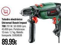 Oferta de Taladro eléctrico Bosch por 89,99€