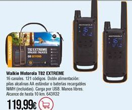 Oferta de Walkie talkie por 119,99€