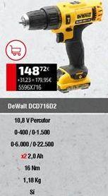 Oferta de Taladro atornillador Dewalt por 148,72€