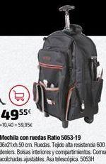 Oferta de Mochila con ruedas por 49,55€