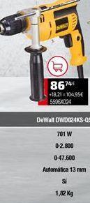 Oferta de Taladro Dewalt por 86,74€