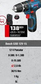 Oferta de Taladro atornillador Bosch por 138,8€