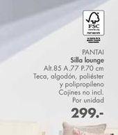 Oferta de Silla lounge PANTAI  por 299€