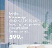 Oferta de Banco lounge pantai por 599€
