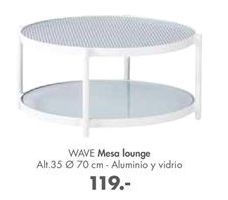 Oferta de Mesa lounge wave por 119€