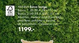 Oferta de Banco lounge HANNA  por 1199€