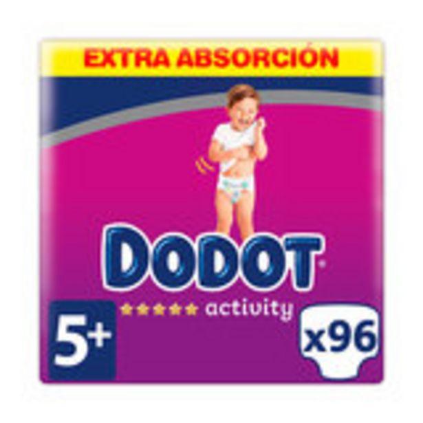 Oferta de Dodot activity extra talla 5. pañales de 12 a 17 kg, 96 pañales por 29,99€