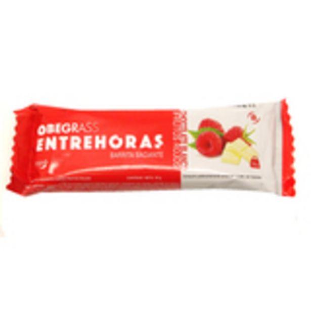 Oferta de Entrehoras barrita saciante chocolate blanco y frutos rojos 30 gr por 1,05€