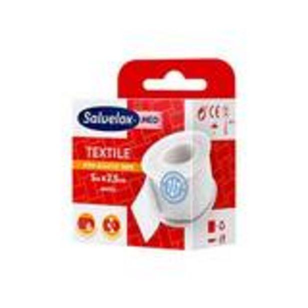 Oferta de Esparadrapo textile 5x2,5 blanco por 1,65€