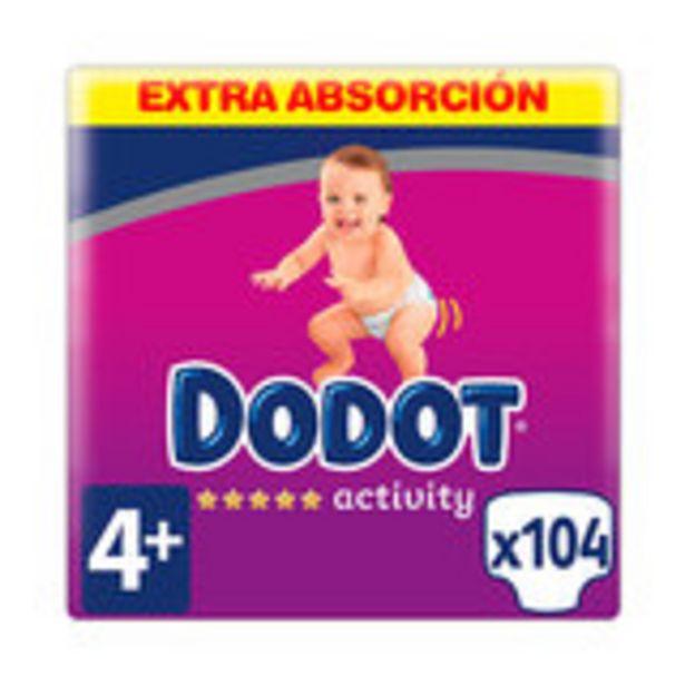 Oferta de Dodot activity extra talla 4+ pañales 10 a 15 kg, 104 pañales por 29,99€