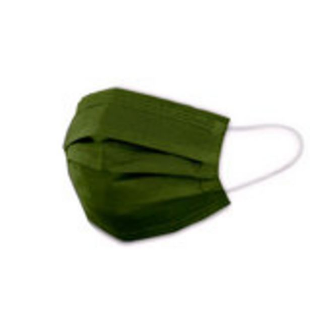 Oferta de Mascarila quirurgica desechable verde 10 un por 1,99€