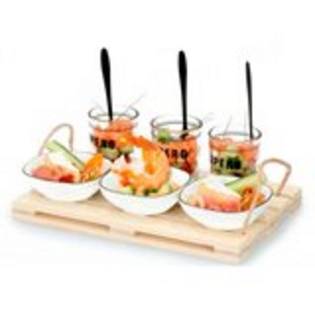 Oferta de Bandeja para aperitivo Alpina con accesorios natural por 9,95€