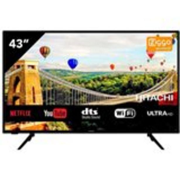 "Oferta de Televisor Smart TV Hitachi 43HK5600 43"" 4K Ultra HD Wifi DTS G negro por 325€"