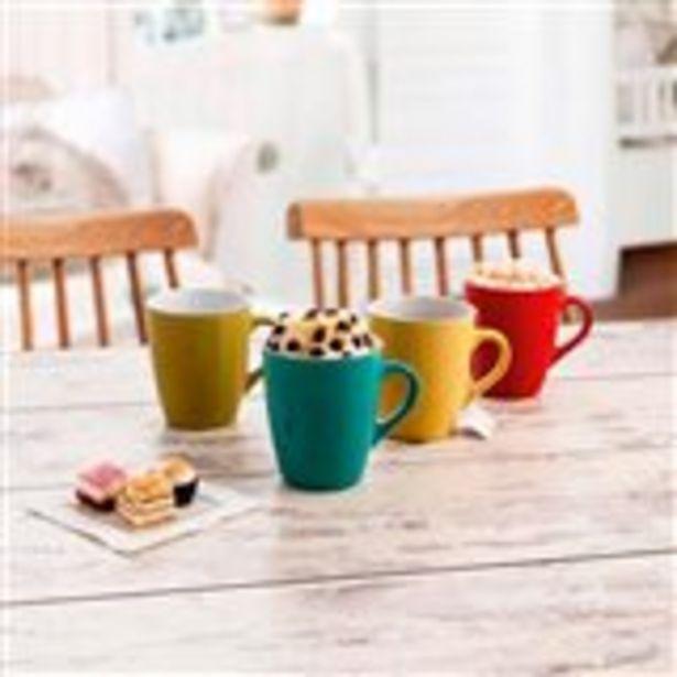 Oferta de Set 4 tazas desayuno Mug 33cl por 5,99€