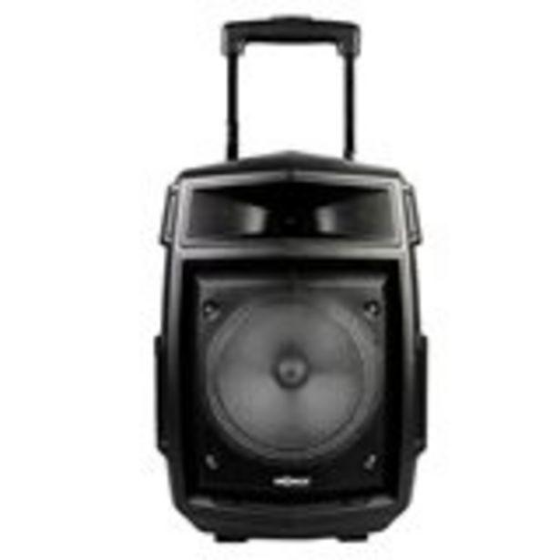 Oferta de Altavoz Trolley GoRock Thulos 20W+3W Tweeter 2400mAh función karaoke con micrófono negro por 45€