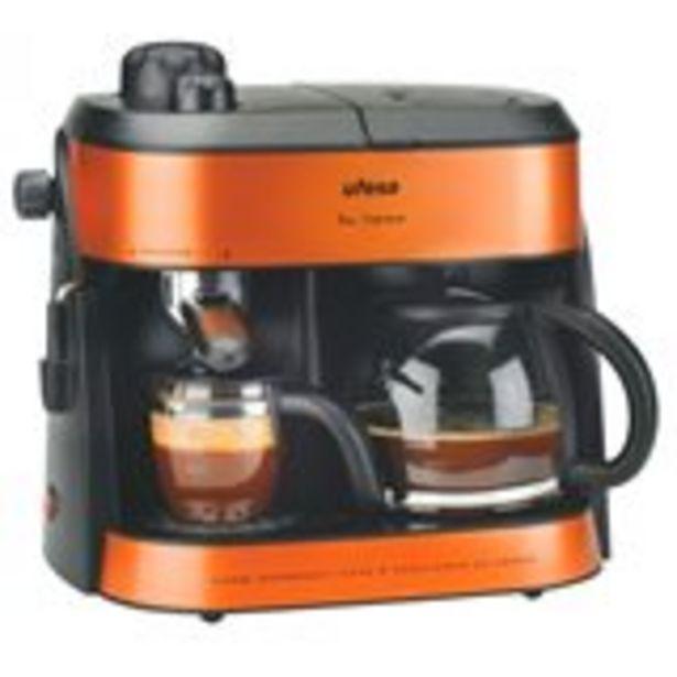 Oferta de Cafetera Duo Supreme Ufesa 1800W 1,25L 10 tazas negro/caramelo 35x24,5x24,5 cm por 115€