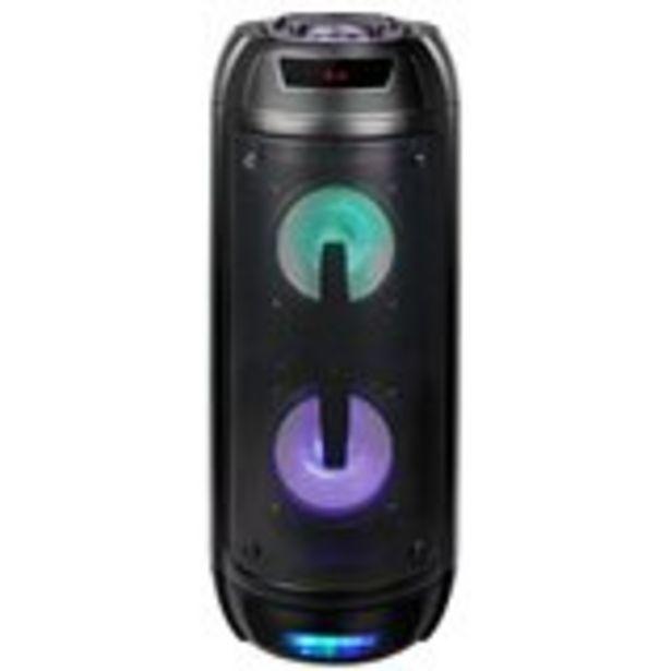 Oferta de Altavoz portátil GoRock Thulos 2x10W 2400mAh función karaoke con micrófono negro Ø21,5x52,5 cm por 49€