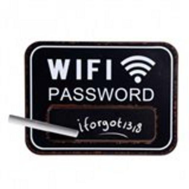 Oferta de Tablero Wifi negro 29x39x0,9 cm por 5,99€