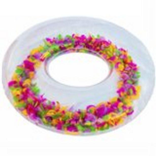 Oferta de Flotador circular plumas multicolor Ø91 cm por 5,99€