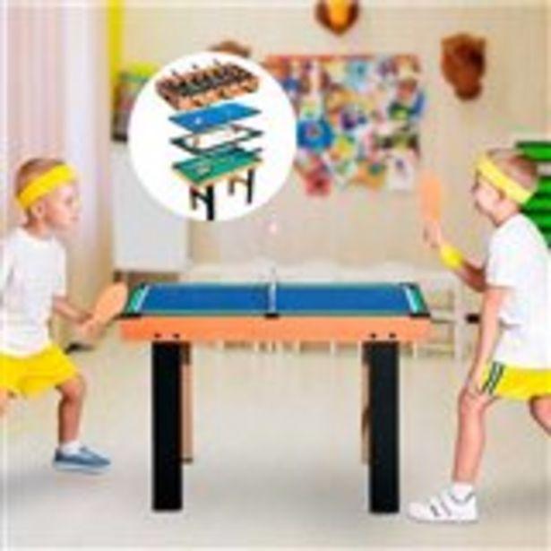 Oferta de Mesa multijuegos 4 en 1 Homcom futbolín/air hockey/ping-pong/billar 73x87x43 cm por 110,99€