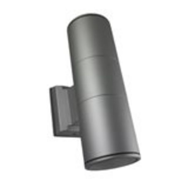 Oferta de Aplique Mural cilindro iglux gris IP54 Ángulo 120º Ø90x160x275mm por 21€