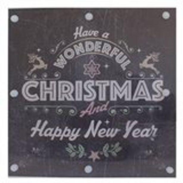 Oferta de Cartel navideño madera LED por 5,99€
