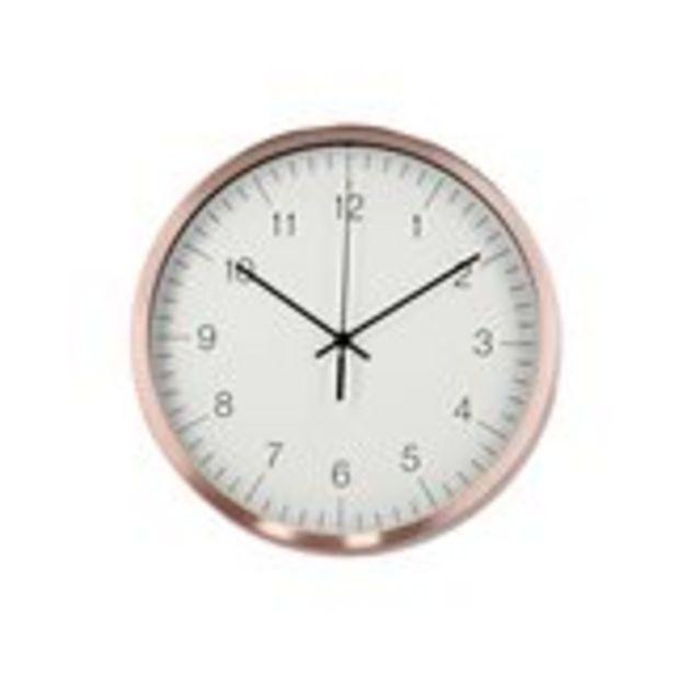 Oferta de Reloj de pared Pure cobre 25,5 cm por 5,99€