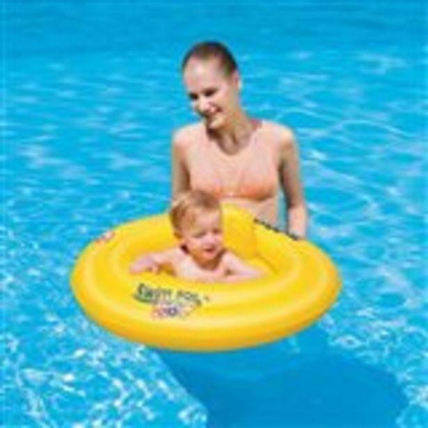 Oferta de Flotador de bebé 69 cm amarillo por 5,99€