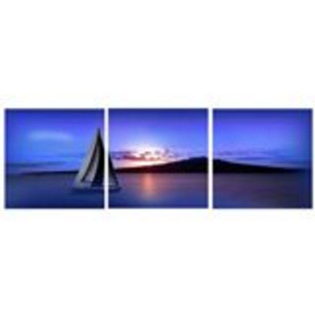Oferta de Cuadro tríptico barco de vela por 5,99€