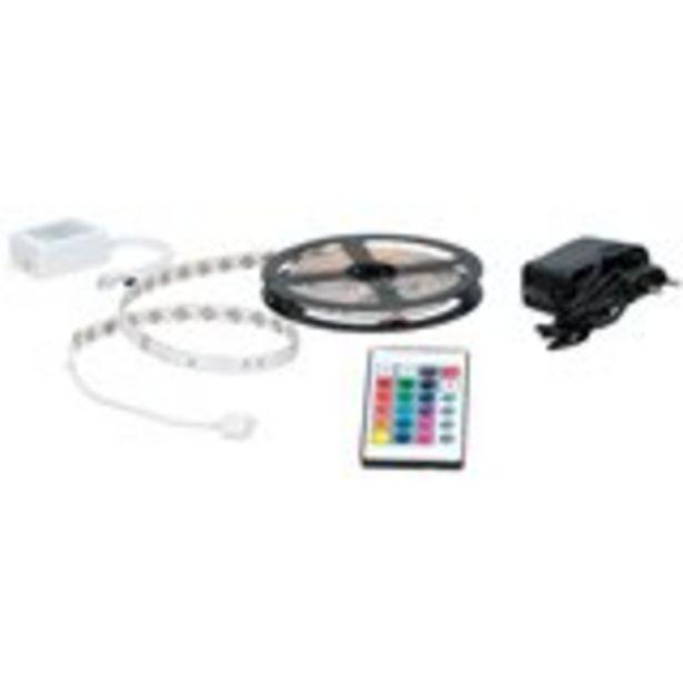 Oferta de Tira de luces LED Grundig autoadhesiva con mando a distancia 3 m por 12€
