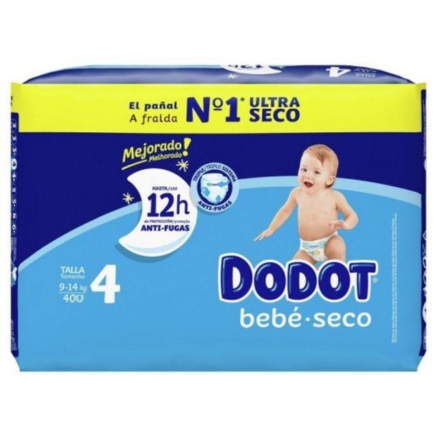 Oferta de Dodot etapas pañales talla 4 8-14 kg 40 unidades por 9,95€
