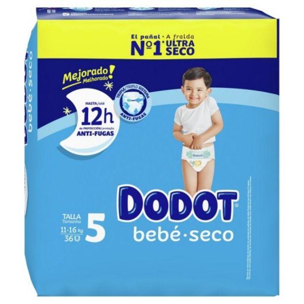 Oferta de Dodot pañal bebe-seco talla 5 (11-16 kg) 36 unidades por 9,95€