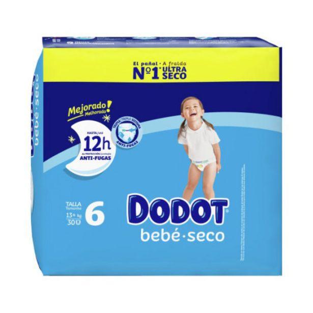 Oferta de Dodot pañal bebe-seco talla 6 (17-28 kg) 30 unidades por 9,95€