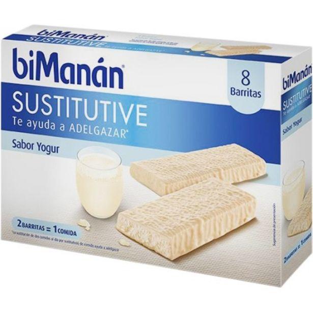 Oferta de Bimanan sustitutive barritas sabor yogur 8 unidades por 11,6€