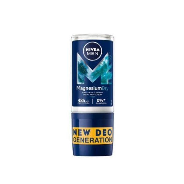 Oferta de Nivea men desodorante roll-on magnesium dry fresh roll-on 5... por 1,99€