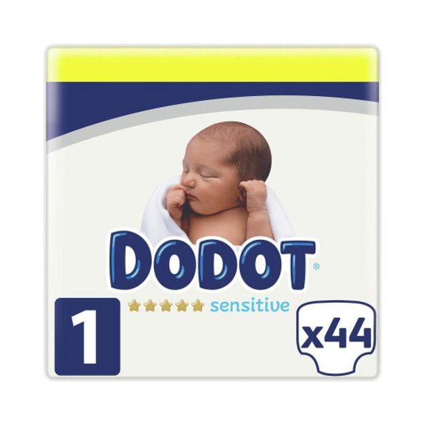 Oferta de Dodot sensitive pañal talla 1 (2-5 kg) 44 unidades por 11,95€