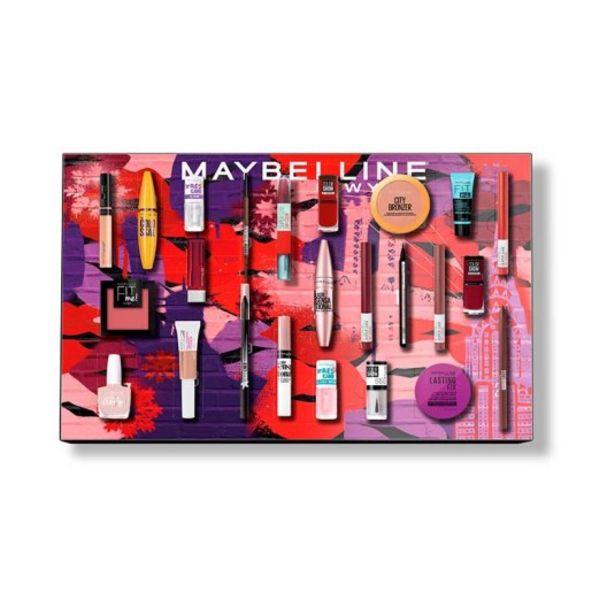 Oferta de Maybelline calendario de adviento 2021 makeup por 79,9€