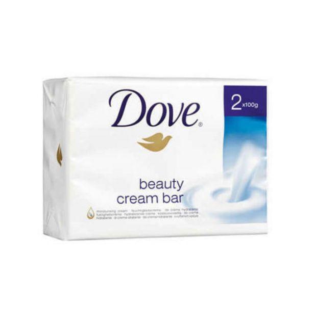 Oferta de Dove pastilla de jabon hidratante duplo 2x100g por 1,75€