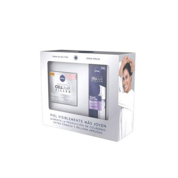 Oferta de Nivea cellular filler set crema spf30 + serum perlas por 18,95€