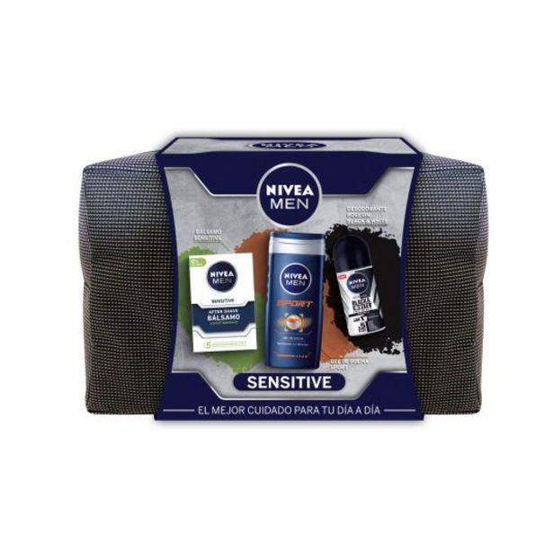 Oferta de Nivea men neceser balsamo sensitive+gel+desodorante por 9,95€