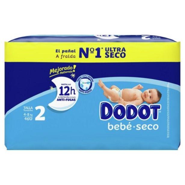 Oferta de Dodot pañal bebe-seco talla 2 (4-8 kg) 46 unidades por 9,95€